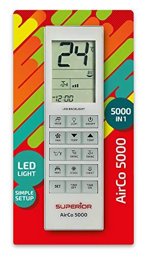 Superior Electronics SUPCU005 Airco 5000 - Mando a Distancia Universal para climatizadores, 5000 códigos