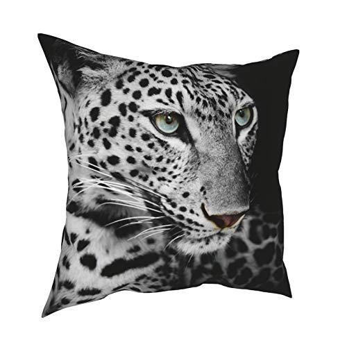 iksrgfvb Throw Pillow Case Fundas de cojín Leopard Poster Fundas de Almohada cuadradas para sofá de Sala de Estar 18 x 18 Pulgadas