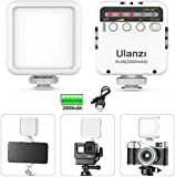 Osmo Pocket Light, ULANZI VL49 Camera Pocket Led Video Light 2000mAh Rechargeable 3 Cold Shoe Compatible with iPhone DJI Osmo Pocket Osmo Action 3 Gopro Hero 8/7/6/5 Black DSLR Camera