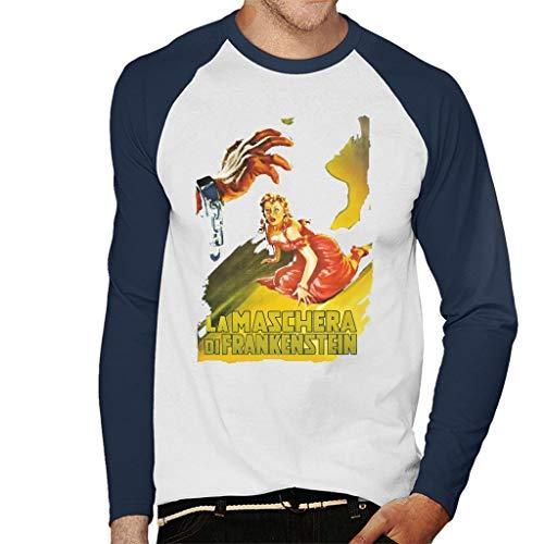 Hammer Horror Films Frankenstein Elizabeth Gasp Honkbal heren T-shirt met lange mouwen