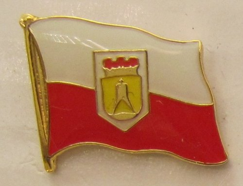 Pin Anstecker Flagge Fahne Cuxhaven Nordsee Stadtflagge Flaggenpin Badge Button Flaggen Clip Anstecknadel