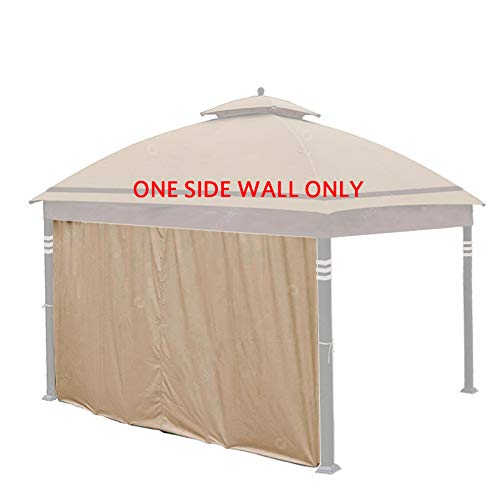 Hofzelt Gazebo Universal 12-ft Replacement Curtain Side Wall Privacy Panel (One Side Only), Beige