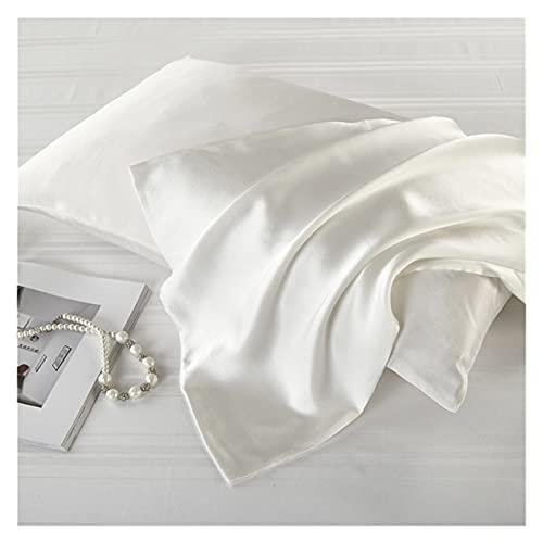 JUSU Store 100% Natural de Seda de Seda de Seda de Seda Real Seda con Cremallera para Almohada Cubierta de Almohada Satin 16 Momme Home Home Textil Mojado de Ropa de Cama Almohadas