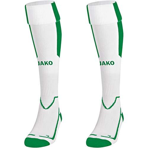 JAKO Kinder Stutzenstrumpf Lazio, Weiß/Sportgrün, 2 (31-34), 3866