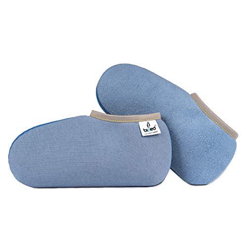 biped Stiefelsocken PINGUIN - wärmende Socken für Gummistiefel, für Freizeit und Beruf - Füßlinge für Damen und Herren als Hausschuh Ersatz oder Gästeschlappen - made in Germany - z2743(41-42)