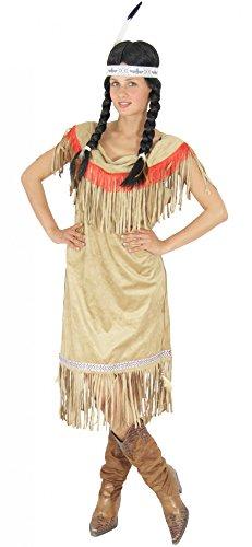 FOXXEO Traje Indio para Mujeres Traje Indio Traje Indio Traje Indio marrón Mujer Beige, Talla: XL