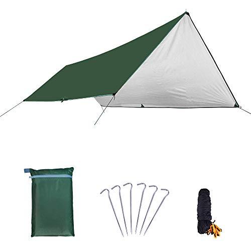 WJQ Camping Tarpaulin - Bâches pour Tente de hamac, Protection Solaire résistante à l'usure et Durable, Anti-Vent, Uniforme et Stable - très approprié pour la randonnée en Camping en Plein air