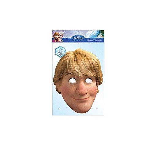 Masque en carton de Kristoff - La Reine des Neiges Frozen - Taille Unique
