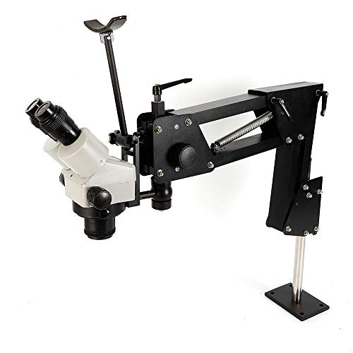 Multi-Directional Microscope, 7X-45X Microscope Gem Diamond Setting Machine with Stand Jewelry Tools, Inlaid Mirror Multi-Directional Micro-Setting Microscope for Jewelry Industry