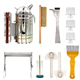 M.Z.A 8 in 1 Beekeeper Tools Set, Bee Smoker, Brush, queen Catcher,J Hook Hive Tool Set,Beekeeping Starter Kit...