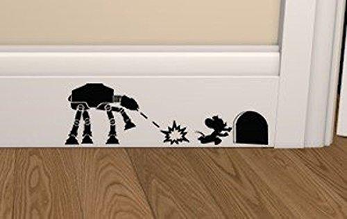 Pegatina De Vinilo De Star Wars Atat Contra Raton Zocalo Pelicula Arte Calcomanía Mural Star Wars Vinyl Sticker Dormitorio De Los Niños Sala La Tienda Coche Ventana Decoración 7x22cm Por Nia Art