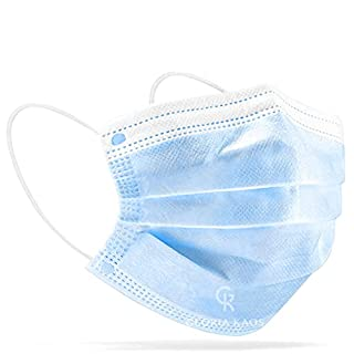scheda 50 mascherine made in italy tipo ii protezione viso certificate ce in pacchetti da 10 pezzi (azzurro)