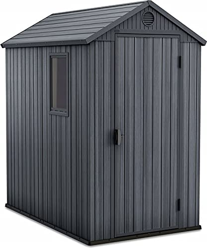 Keter Darwin 4ft x 6ft Garden Shed in Graphite