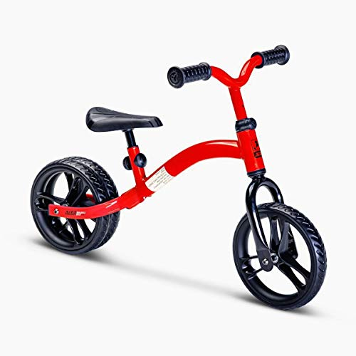 Yvolution Neon 2-in-1 Balance Bike | No-Pedal 9' Balance Bike | Ages 2-4 (Red)