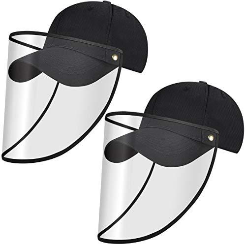 heekpek Gorra de Béisbol Negra Gorra de Béisbol Unisex para Adultos Sombrero de Mosquito a Prueba de Polvo de Saliva de Moda Baseball Cap