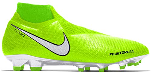 Nike Unisex-Erwachsene Phantom Vsn Elite Df Fg Fußballschuhe, Grün Volt White Barely Volt 717, 44.5 EU