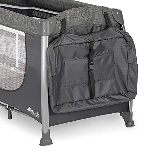 Hauck Play'n Relax Center Reisebett, 7-teiliges, ab Geburt bis 15 kg, faltbar und kippsicher, mit Neugeborenen Einhang, Wickelauflage, seitlicher Ausstieg, Netztasche, Räder, Transporttasche, grau - 16