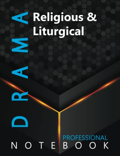 """Compare Textbook Prices for Drama, Religious & Liturgical Ruled Notebook, Professional Notebook, Writing Journal, Daily Notes, Large 8.5"""" x 11"""" size, 108 pages, Glossy cover  ISBN 9798498444819 by Prodrama  Cre8tive Press"""