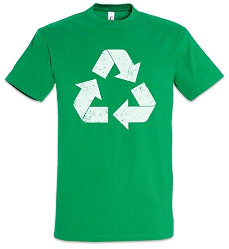 Urban Backwoods The Big Green Vintage Recycle Logo Uomo T-Shirt Verde Taglia M