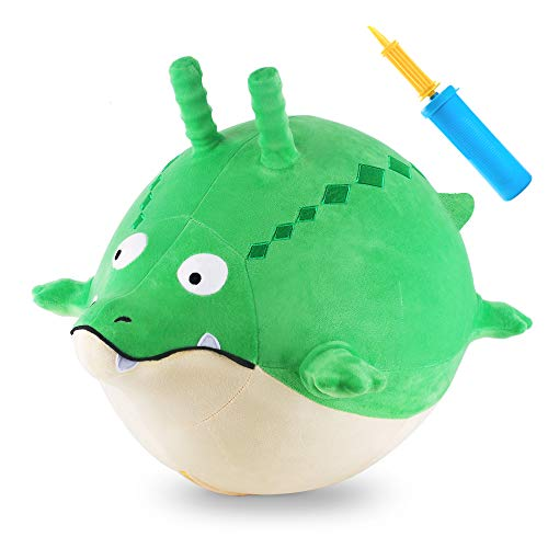 iPlay, iLearn Bouncy Pals Ball Hopper Toy, Plush Gator Hopping Ball, Inflatable Animal Hop Ball, Indoor n Outdoor Ride on Crocodile, Active Gift for 18 24 Month, 2 3 4 Year Olds Kid Toddler Boy Girl