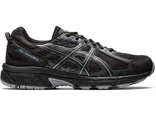 Asics - Gel-Venture 6 - Zapatillas deportivas de hombre para correr, Negro (Negro/Negro), 43 EU