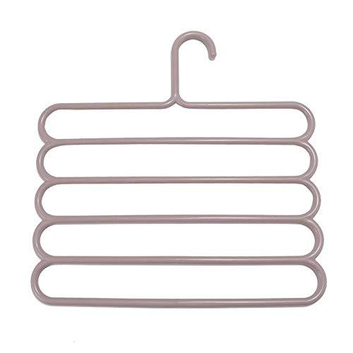 Kleerhangers Unisex voor volwassenen, verpakking met 4 broeken, kleerhangers, meerdere lagen, PP, losse haken, kledingkast, organizer, voor broeken, sjaal, om op te hangen