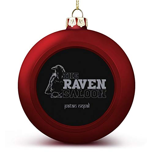 VNFDAS The Raven Saloon Nepal Indiana Jones Custom Christmas ball ornaments Beautifully decorated Christmas ball gadgets Perfect hanging ball for holiday wedding party decoration