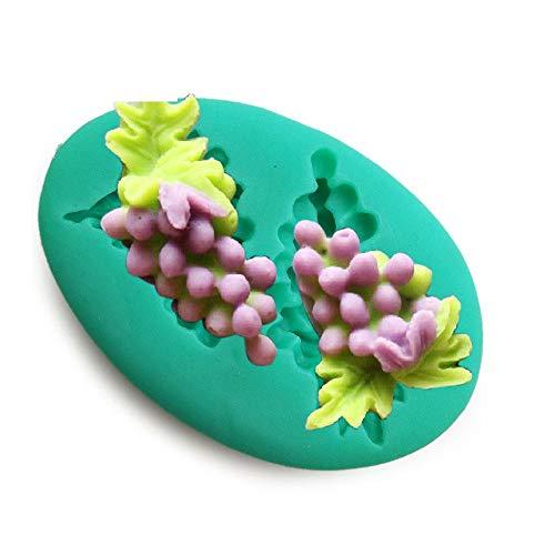 DACCU nieuwe aankomst mini siliconengel fondant druiven chocolade polymeer klei, mobiele telefoon decoratie zachte vorm bakvormen F0367PT35
