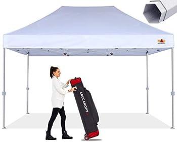 ABCCANOPY Commercial Ez Pop Up Canopy Tent 10x15 Premium-Series White
