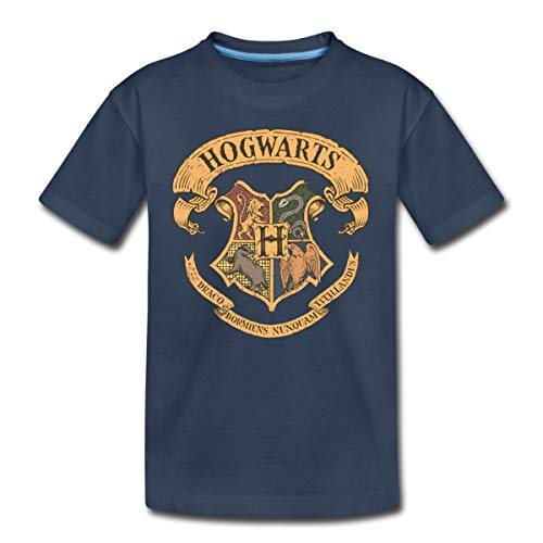 Harry Potter Hogwarts Wappen Teenager Premium T-Shirt, 146-152, Navy