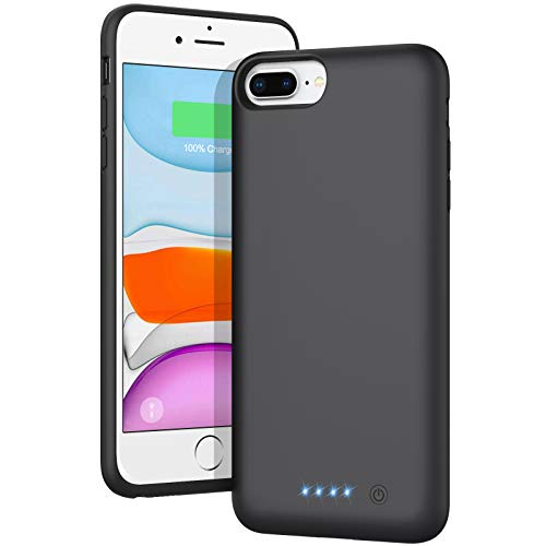 AONIMI Battery Case for iPhone 6s Plus/6 Plus/7 Plus/8 Plus, [8500mAh] Portable Charging Case Rechargeable Extended Battery Pack Protective Charger Case for Apple iPhone 6 Plus/7 Plus/8 Plus (5.5')
