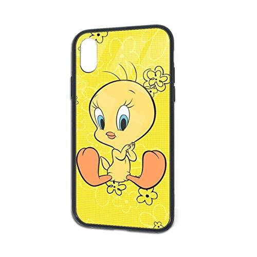 T-Wee-ty Bird - Carcasa para iPhone Xs, protección contra impactos y arañazos, diseño de pájaros, resistente a los golpes, carcasa trasera de cristal templado para Apple iPhone X/XS