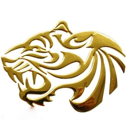 phil trade Aufkleber Sticker Gold Chrom 3D Emblem Tiger Auto Motorrad Styling DZ-27G