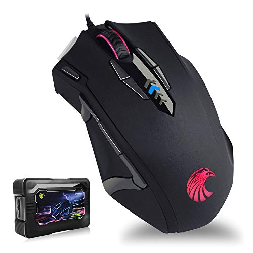 E-YOOSO RGB Gaming Mouse Wired - 10000 DPI High Precision Laser 14 Programmable Buttons - Ergonomic Optical Gaming Mice - Weight Tuning Set for Windows PC Gaming Z7900