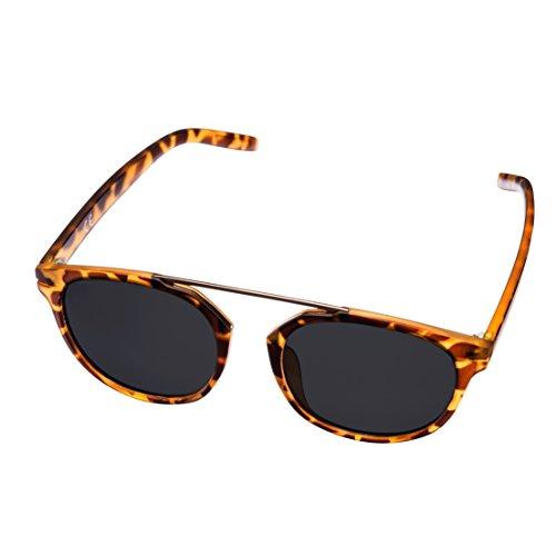Gafas de sol MIRA MR-810 con carey para mujer - Lentes polarizadas con protección 100% contra rayos UVA y UVB - Cómodo diseño retro - Incluye funda de presentación y bolsa de transporte de microfibra