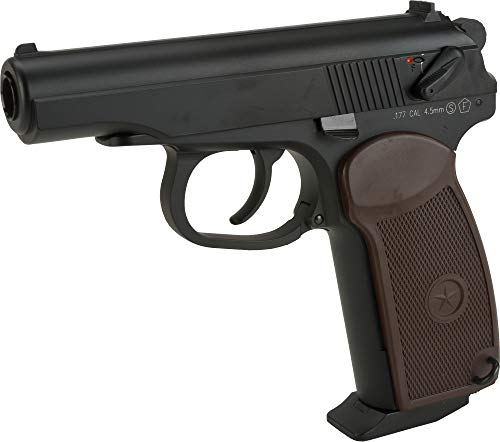 Evike Airguns - KWC CO2 Powered Russian PM Blowback 4.5mm Pistol - Black (4.5mm Airgun NOT Airsoft)