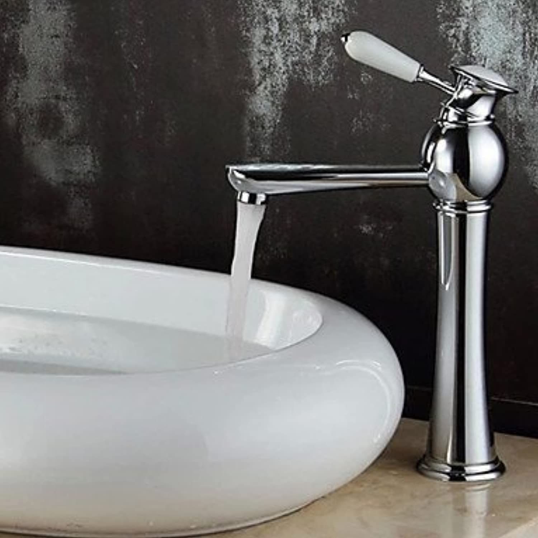 Luxurious European-Style Chrome Bathroom Sink Faucet Sleeves