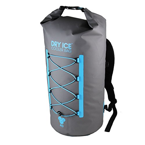 Dry Ice Premium Waterproof Ice Cooler Insulated Bag Backpack, Grey, 40 Litre