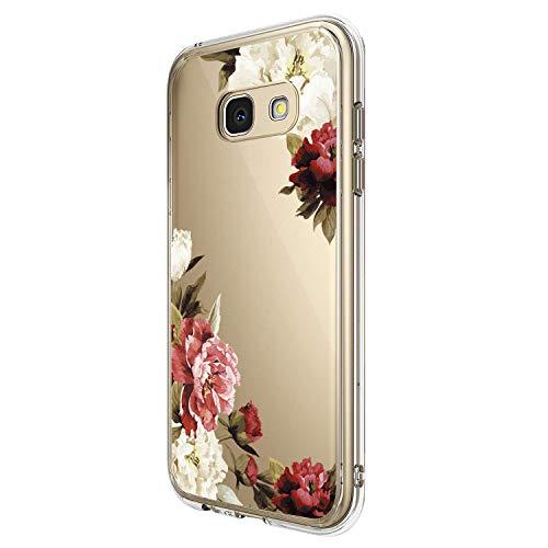 Pacyer Custodia Compatibile con Samsung Galaxy A5 2017 Cover silice TPU Caso 360 Gradi Protezione Trasparente Crystal Shell Anti-graffio Ultra Sottile Shock-Absorption Protettiva (3)