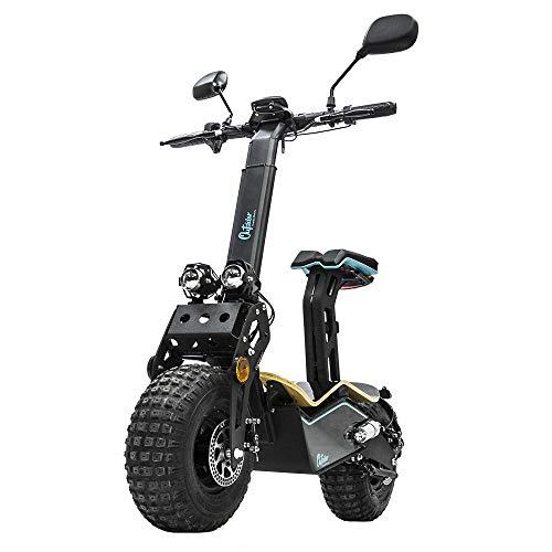 Cecotec Outsider Demigod Makalu elektrische step, max. 1600 W, XXL wielen met noppen en windscherm, bereik 30 km, snelheid max. tot 45 km/u.
