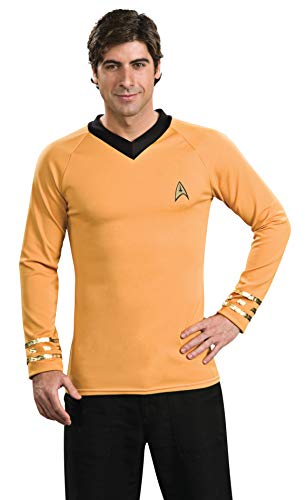 Rubie's mens Classic Star Trek Deluxe Captain Kirk Shirt Adult Sized Costumes, Gold, X-Large US