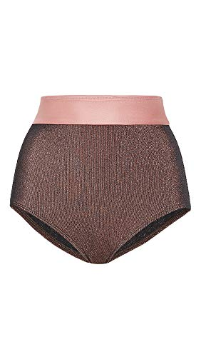 Flagpole Women's Arden Bikini Bottoms, Bronze/Rose Gold, X-Small