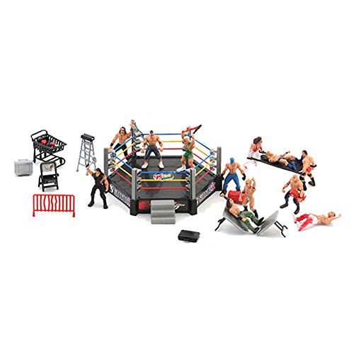 Leobtain Wrestling Toys Wrestler Warrior Toys Realistic Accessories Fun Miniature Fighting Action Figures Wrestling Toys for Kids