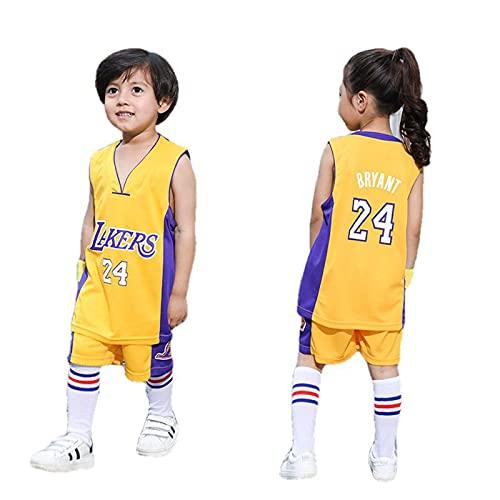YCQQ Niño Jersey, Camiseta de Baloncesto para Hombre, NBA, Los Angeles Lakers #24 Kobe Bryant. Bordado Swingman Transpirable y Resistente(Size:XL(150-155cm),Color:G1)