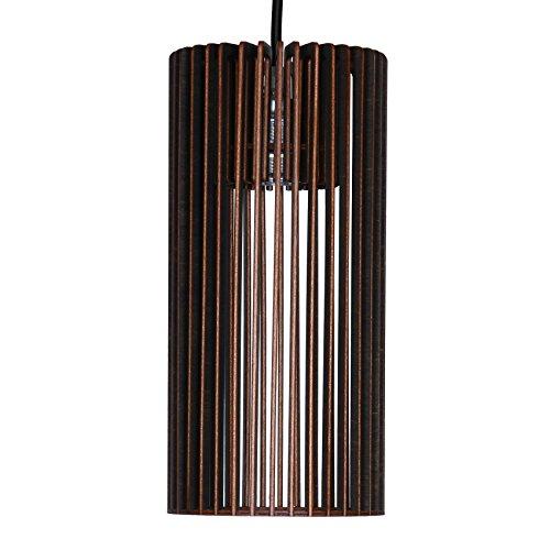 Pendelleuchte CILINDRO aus Holz - Moderne Designer Deckenleuchte - viele Farben erhältlich Schwarz