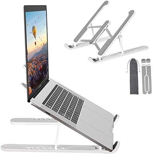 laptop stand adjustable ergonomic cooling riser, Foldable, Portable, Ventilated Desktop Laptop Holder, Universal mount stand compatible with all Tablets and Notebooks