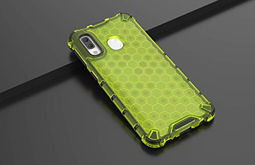 Max Power Digital Funda para móvil Samsung Galaxy A40 Antigolpes Silicona TPU + PC Antigolpes Diseño Panal - Delgada y Resistente (Samsung A40, Verde)