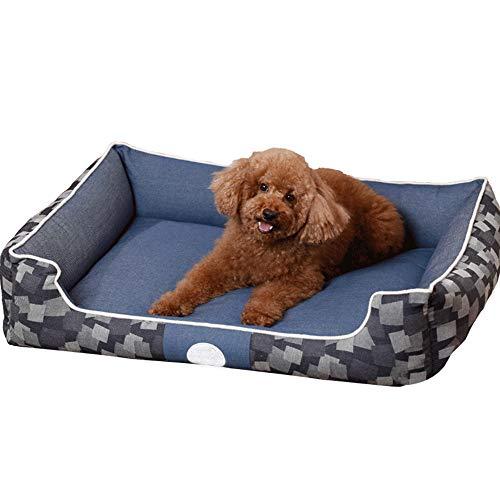 WLDOCA Hundebett mit Wendekissen, extrem weich Haustier Bettsofa, weiche Wollvlies PP Baumwolle in EIN Haustierbett, geeignet für kleine, mittlere Große Hunde oder Katzen,S