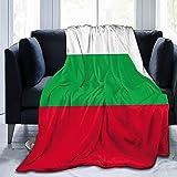 Flanelldecke mit Flagge von Bulgarien, flauschig, bequem, warm, leicht, weich