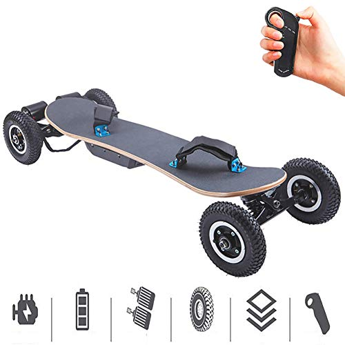 FGKING Elektro-Skateboard, Off Road Elektro-Skateboard - schneller & Feuerzeug & Thinner Longboard mit drahtloser Fernbedienung, Berglongboard mit Dual-Motoren
